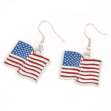 Placate cu argint aliaj SUA Flag Cercei model – EUR € 2.99