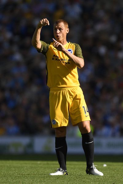 Steve Sidwell of Brighton in action during a Pre Season Friendly between Brighton & Hove Albion and Atletico Madrid at Amex Stadium on August 6, 2017 in Brighton, England.