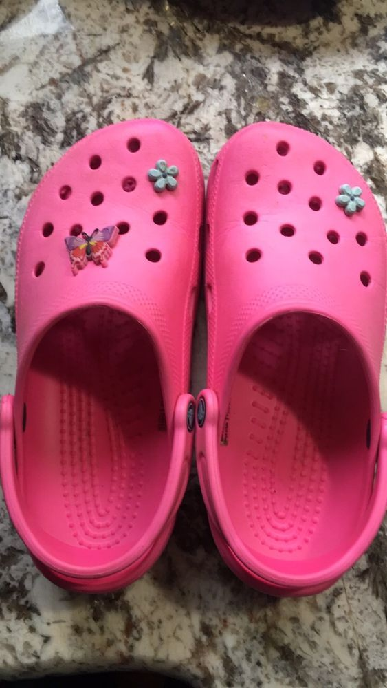 0637a42b4 Crocs - hot pink unisex. worn once-nearly new! Women s size 8-9 Mens 6-7.   fashion  clothing  shoes  accessories  womensshoes  flats (ebay link)