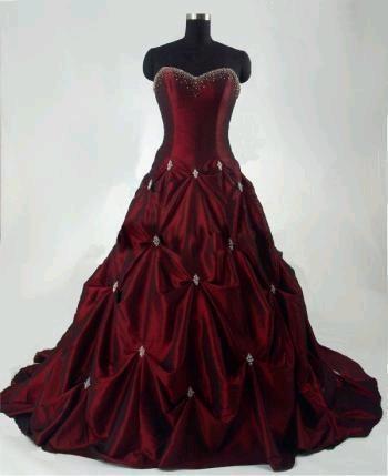 beautiful maroon dress