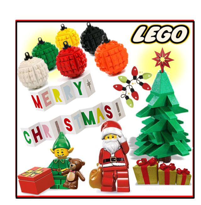 Lego Christmas! by whirlypath on Polyvore featuring art