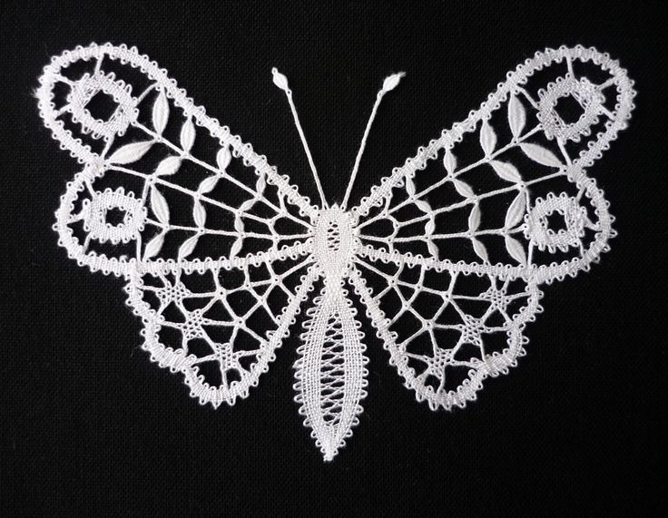 "Glasgow Butterfly - pattern from ""An Introduction to Bedfordshire Lace"" by Jean…"