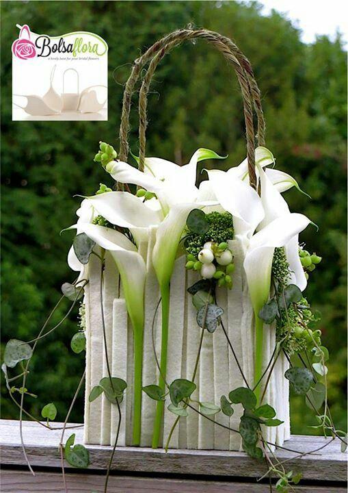 White calla lily purse