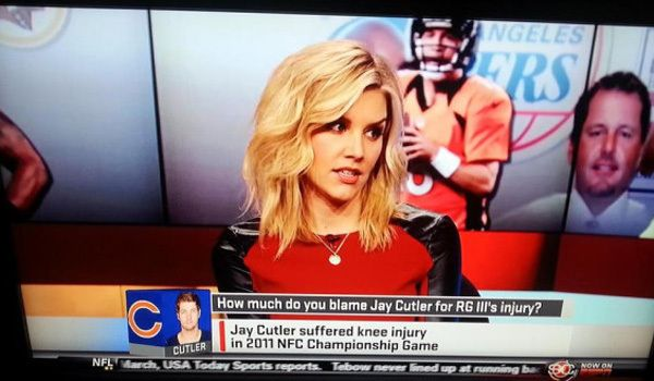 It's Jay Cutler's fault that RGIII was injured.  Haha!  Oh, Jackass Jay strikes again!!
