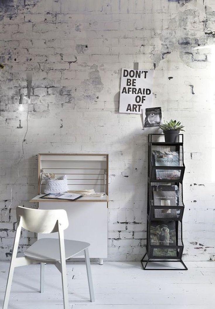 25 beste idee n over papier peint effet brique op pinterest papier peint effet bois - Muur deco volwassen kamer ...