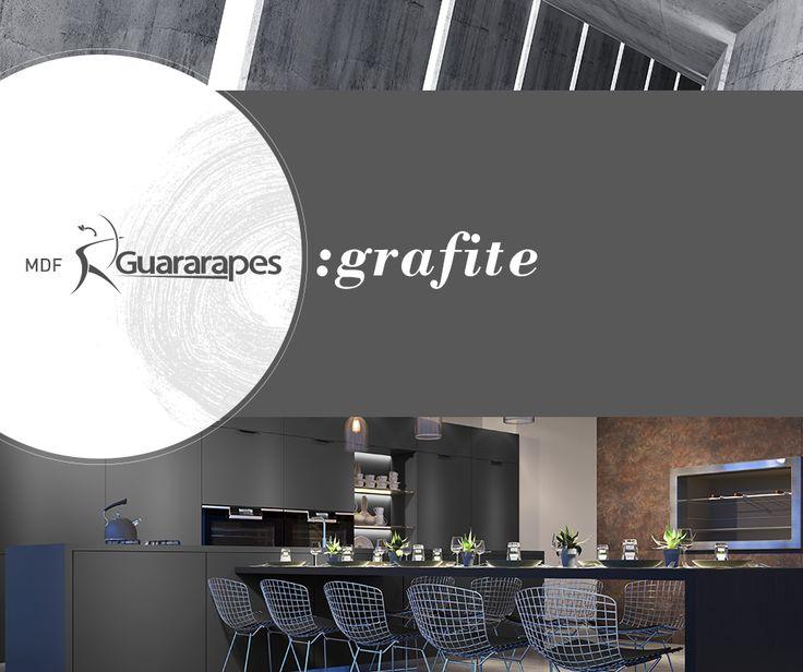 O Grafite possibilita inúmeras combinações, desde as minimalistas até as mais rebuscadas. Leve para o seu próximo projeto este padrão neutro e versátil, mais um sucesso da Guararapes.  #Guararapes #MDF #MDFGrafite #Cozinhas #HomeDecor #Decoração #Arquitetura #Compensados
