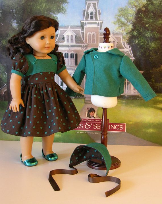 Vintage Jacket and Dress for American Girl or by CupcakeCutiePie