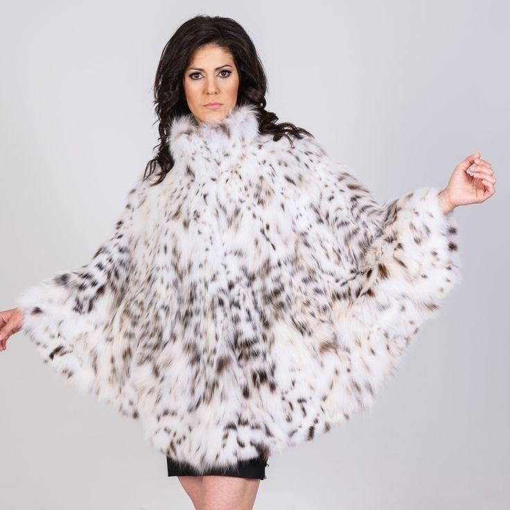 Feeling wild! Wearing a PT furs cat lynx fur cape.