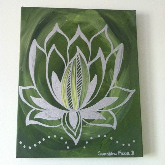 Lotus Flower Painting, Zen, Meditation, Decor, Spiritual Art, Original Painting