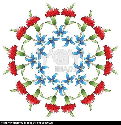Ottoman art flowers twenty six