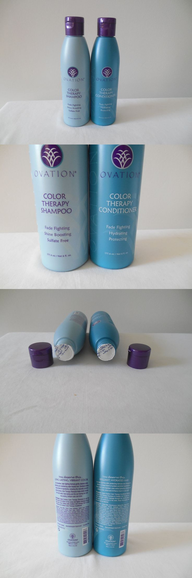 Hair Beauty: Ovation Hair Color Therapy Shampoo And Color Therapy Conditioner 6 Oz New And Sealed BUY IT NOW ONLY: $39.25