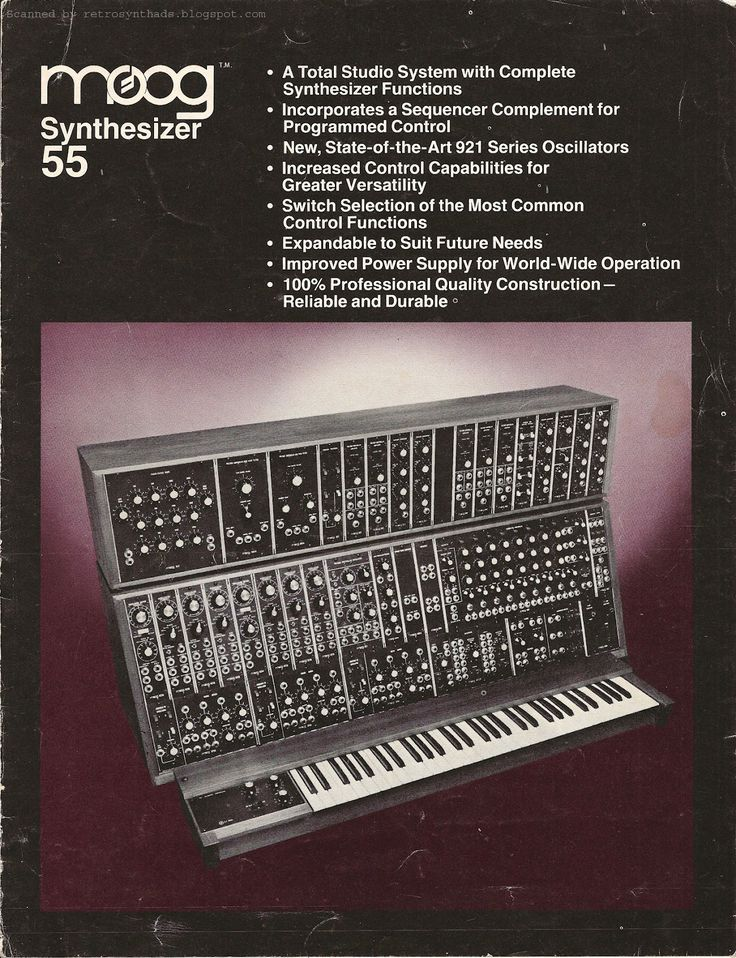 Moog 55 Brochure from Retro Synth Ads