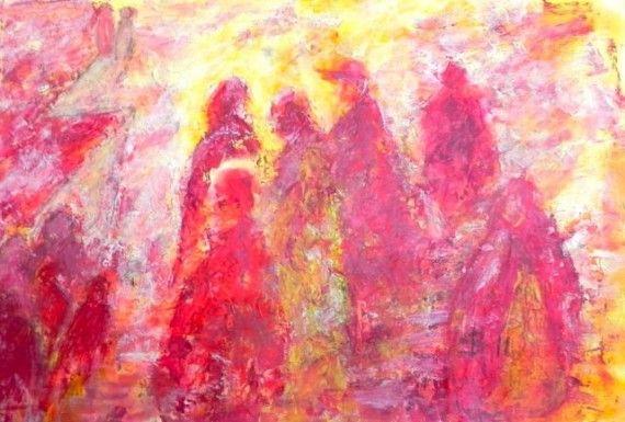 t Beloofde land / the promised land - #hope #wandering #lvolharding #people #landschappenvandeziel #painting #art #soul #journey #modernart #contemporaryart #irkastachiw