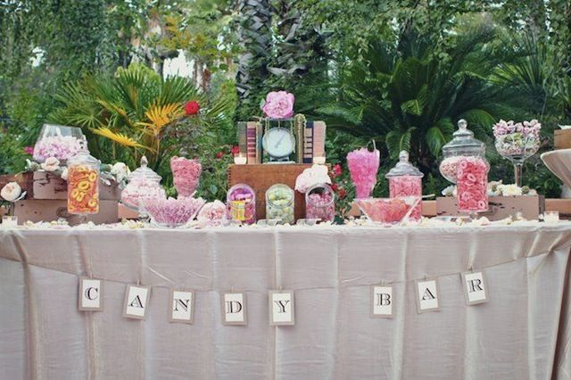"I want a candy bar with little to-go ""doggie"" bags. Maybe have all the candies match the wedding colors."