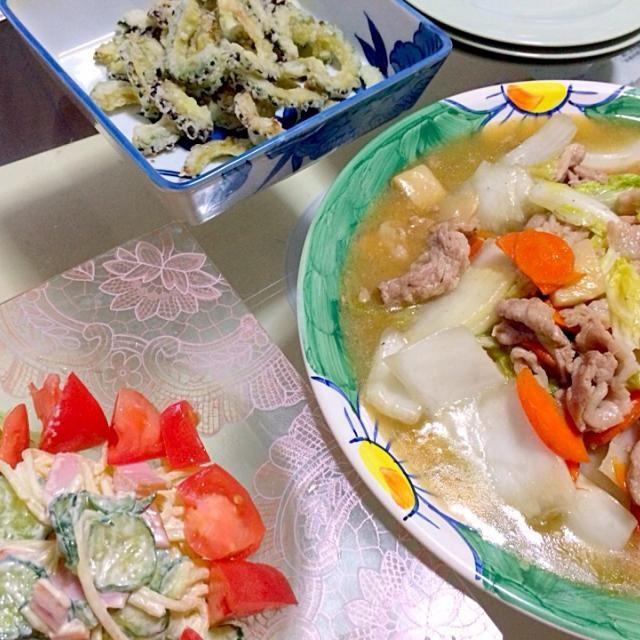 皿うどん、パリパリが見えんけど(笑) - 22件のもぐもぐ - ゴーヤのサクサク揚げ、皿うどん by djvivi