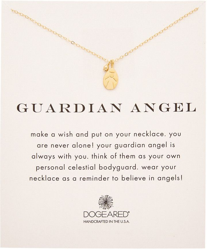 Dogeared 14K Gold Over Silver Guardian Angel Necklace