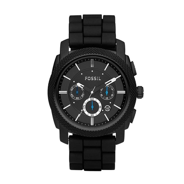 FOSSIL® Watch Styles Sport Watches:Watch Styles Machine Silicone Watch – Black FS4487