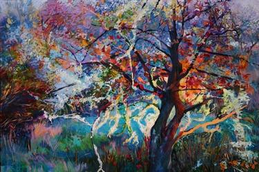 "Saatchi Online Artist Ellen Dittebrandt; Painting, ""Little Lighted Oak"" #art"