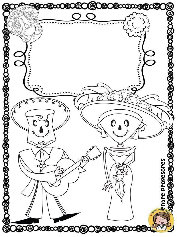 Dibujos Para Colorear El Dia De Los Muertos Halloween Preescolar Actividades Dia De Muertos Dia De Los Muertos