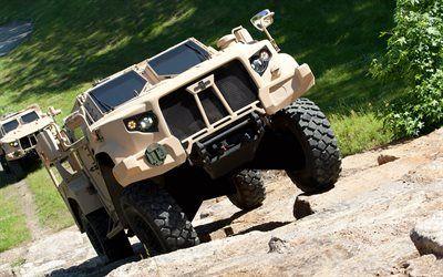 Scarica sfondi Oshkosh L-ATV, l'Esercito Americano fuoristrada, auto blindate, US Army, JLTV, Mine Resistant Ambush Protected