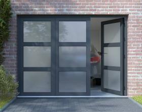 Porte De Garage Basculante En Pvc