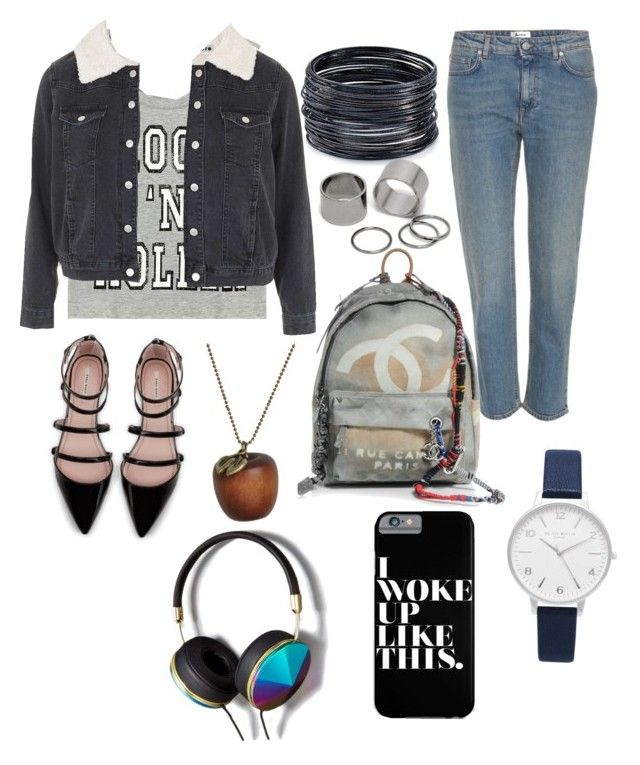 """""""For the weekend """" by oktaeprimsus on Polyvore featuring Topshop, Zara, Acne Studios, Chanel, ABS by Allen Schwartz, Emi Jewellery, Pieces, Olivia Burton and Abercrombie & Fitch"""
