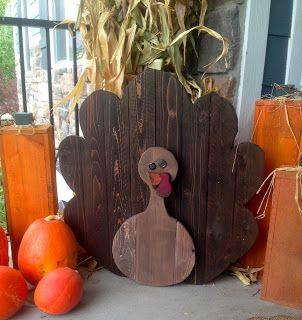 Chapman Place - Pallet Turkey- Thanksgiving Decor