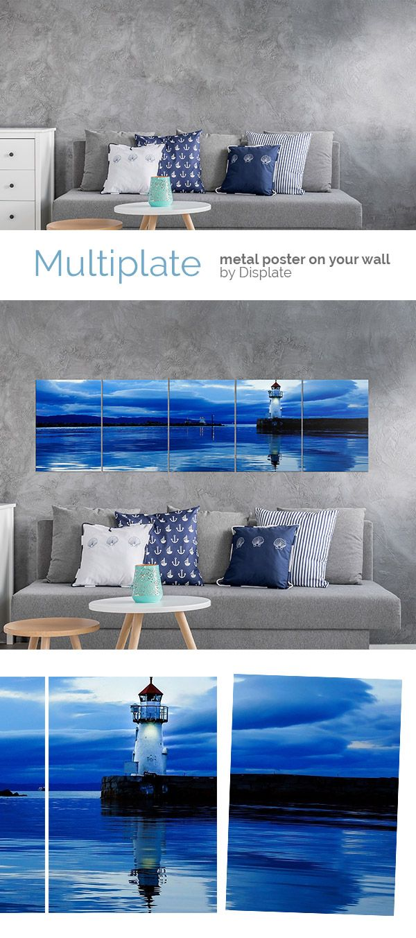 Summer is coming... We're all starting to think about the seaside: sunny weather, warm sand under our feet, the wind in the hair  Invite summer to your home today with this wonderful bluish Lighthouse Multiplate and give your interior a holiday touch! #multiplate