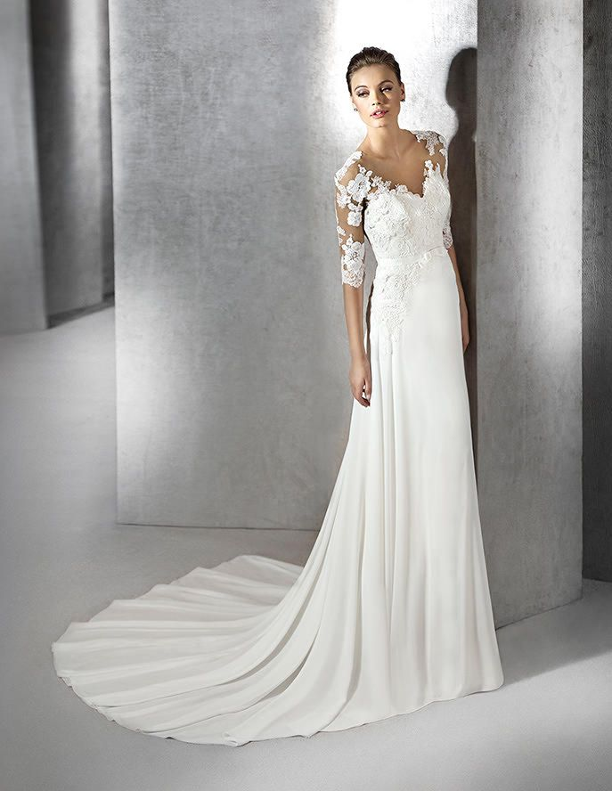 stpatrick.Zelia, vestido de novia original, escote corazón