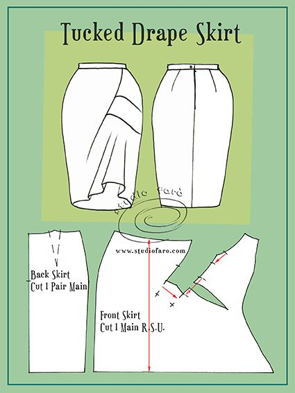 Grab your Pencil Skirt Patterns and try this one!  Good for beginner draping.
