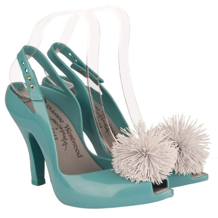 Vivienne Westwood Turquoise Ladydragon Pom Pom Womens Shoe