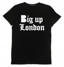 B-side Big up London Mens tee black with white  £30.00
