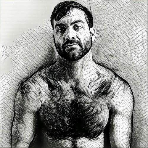 #Prisma#Filter#Men#Hairy#Muscle#Stud