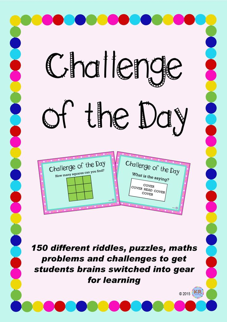 Critical and Creative Thinking - Get young brains turned on and focused for a day of learning! 150 Challenge of the Day's to get the day of learning started with mix of challenges for all sorts of students learning styles.