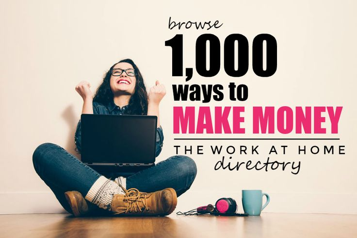 Looking for work from home jobs? The home job directory has over one thousand ways you can work from home and make money online. Updated regularly!