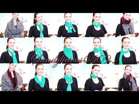 Schal richtig binden - 15 Arten! Schal und XXL Schal - how to wear a scarf - YouTube