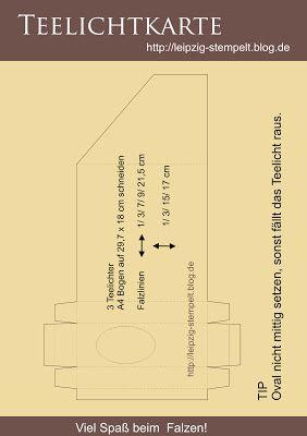 Teelichtkarte mit Anleitung
