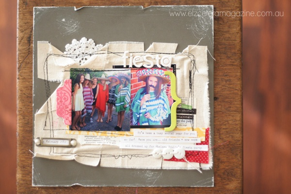 A little scrapbooking layout step by step for the Etz blog