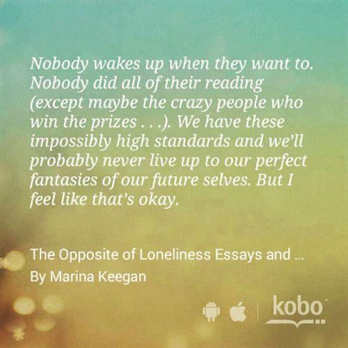 The Opposite of Loneliness by Marina Keegan #kobo #summerreads