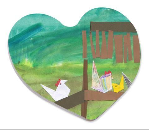 Kid's Art - Heart Shaped Magnet (Personalise it!)