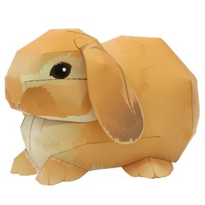 Free Printable Holland Lop Bunny - print up a batch and watch 'em multiply!  - Canon CREATIVE PARK