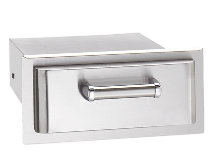 The 43801 Single Drawer radiates a sleek design with a handle that complement the Echelon and Aurora Series Fire Magic Grills. With a modern stylish touch, this Premium storage compartment accessorize
