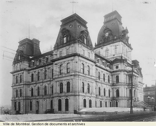 l'Hôtel de Ville de Montréal 1922 (Québec) - Montreal's City Hall 1922 (Quebec)