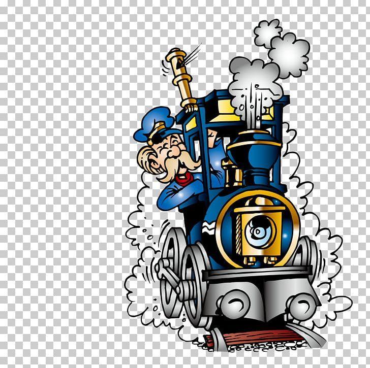 Train Railroad Engineer Steam Locomotive Png Art Cartoon Driver Driver Vector Driving Train Cartoon Engineer Cartoon Steam Locomotive