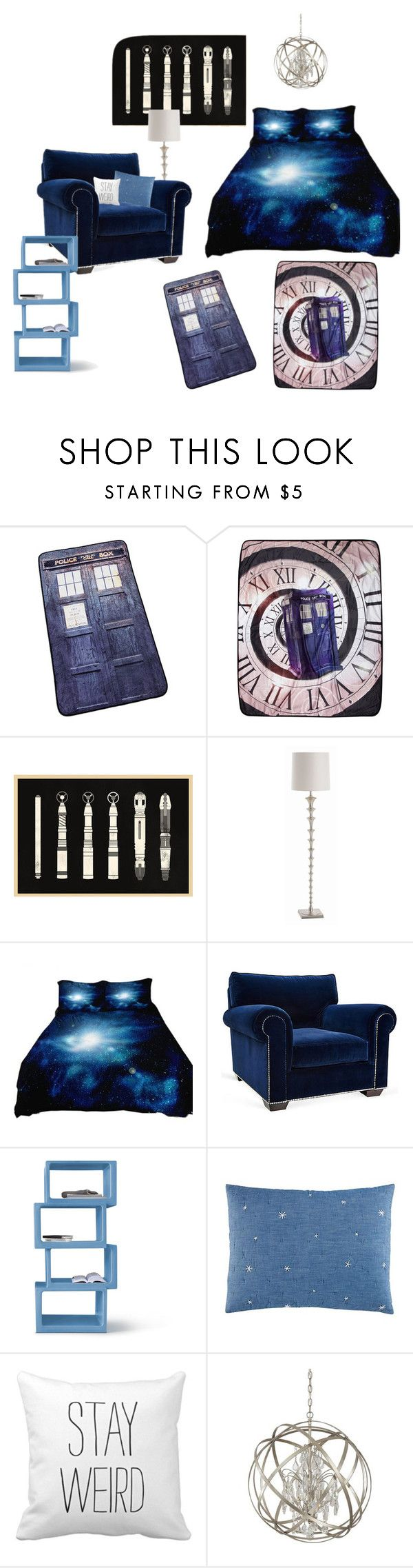 """""""doctor who bedroom"""" by iuzzini on Polyvore featuring interior, interiors, interior design, home, home decor, interior decorating, Arteriors, Barclay Butera, Twentyfirst and Humör"""