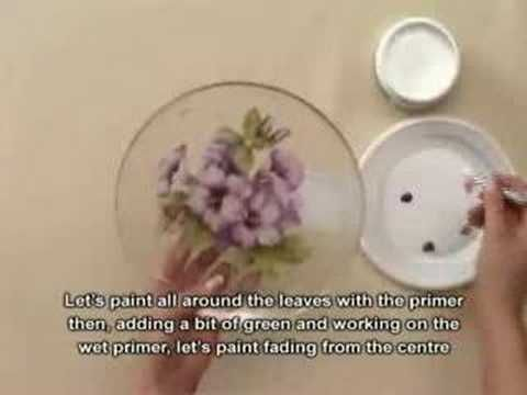 Decoupage pittorico sottovetro – underneath glass painting | Handmade tutorials collection