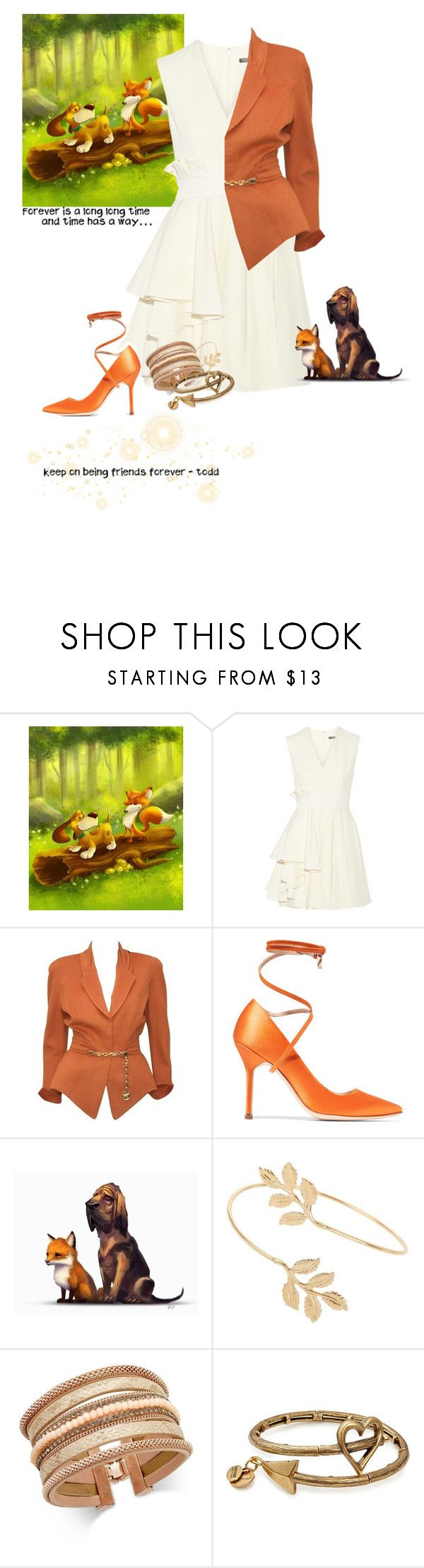 """Todd - The Fox and the Hound"" by krgood7 ❤ liked on Polyvore featuring Alexander McQueen, Thierry Mugler, Vetements, Miss Selfridge, INC International Concepts and Alex and Ani"