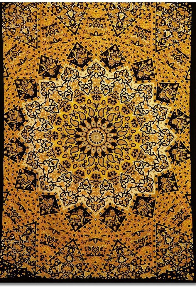 Indian Twin Hippie Mandala Tapestry Wall Hanging Throw Bohemian-Bedspread Decor #Handmade #ArtDecoStyle #WallHangingTapestryBedspreadThrow