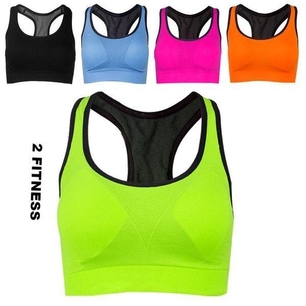 Women Absorb Sweat Vest Sports Gym Shaped Bra