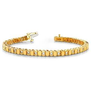 Diamant Armband 1.00 Karat aus 585er Gelb- bzw. Weißgold